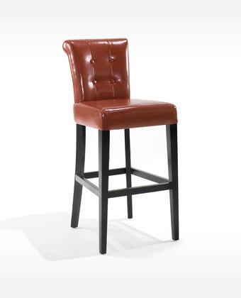 Armen Living LC4032BABO26 Residential Bonded Leather Upholstered Bar Stool