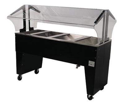 Advance Tabco B4-CPU-B Four-Well Portable Ice-Cooled Buffet Table