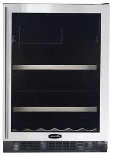 "AGA APRO6BARMBLKR 23.88"" Built-In Wine Cooler, in Black"