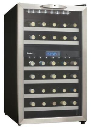 "Danby DWC286BLS 19.5"" Freestanding Wine Cooler, in Stainless Steel"