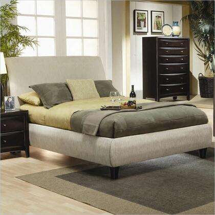 Coaster 300369 Phoenix Upholstered Bed in Tan