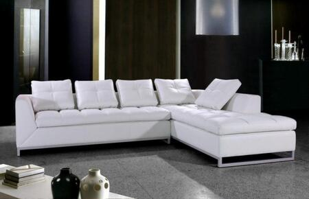 VIG Furniture VG2T0347 Rigatto Series Sofa and Chaise Leather Sofa