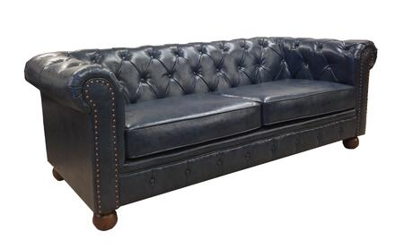 Armen Living LC10603X Winston 1060 Vintage Sofa with Button-tufted Detail, Bun Finished Feet and Antique Bonded Leather in