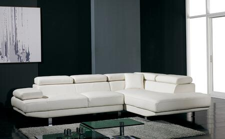 VIG Furniture VGYIT60BL Divani Casa Series Sofa and Chaise Bonded Leather Sofa