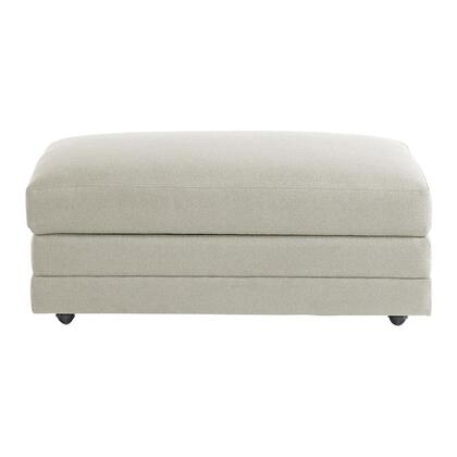"Bassett Furniture Hancock Collection 3935-S2FC/FC163-X 44"" Ottoman with Storage, Fabric Upholstery, Top Stitching in"