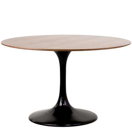 """Modway EEI-523 Lippa 48"""" Dining Table with Modern Design, Scratch and Chip Resistant Long Lasting Walnut Veneer Finished Top, and Fiberglass Base"""