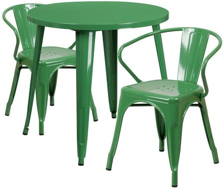 Flash Furniture CH51090TH218ARMGNGG Round Shape Patio Sets