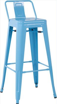 Chintaly 8030BSBLU4SET 8030 Bar Stools