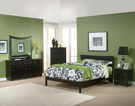 Atlantic Furniture SMETROOFQUEENWH Metro Series  Full Size Panel Bed