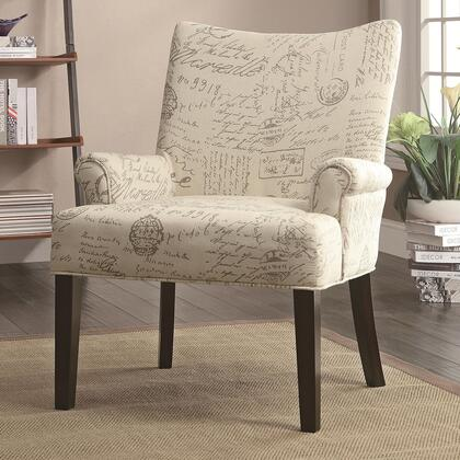 Coaster 902149 Accent Seating Series Armchair Linen Wood Frame Accent Chair