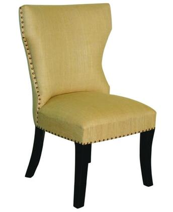 Peninsula Home Collection DC0021030 Contemporary Linen Wood Frame Dining Room Chair