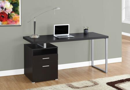 """Monarch I 714X 60"""" Computer Desk with Open Concept Shelf, Ample Surface Space and Storage Drawers"""