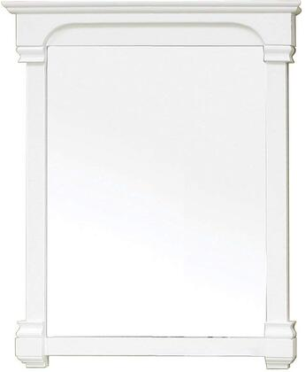 Bellaterra Home 205042MIRRORWH  Rectangular Portrait Bathroom Mirror