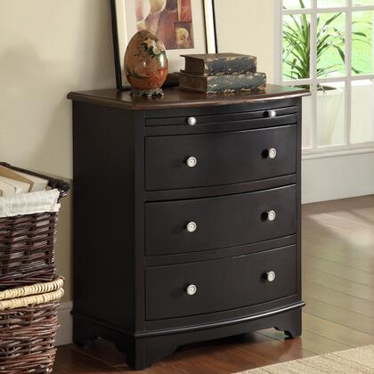 "Coast to Coast 4625 24"" Accent Chest with Pullout Tray, Three Drawers and Embellished Metal Pulls in"