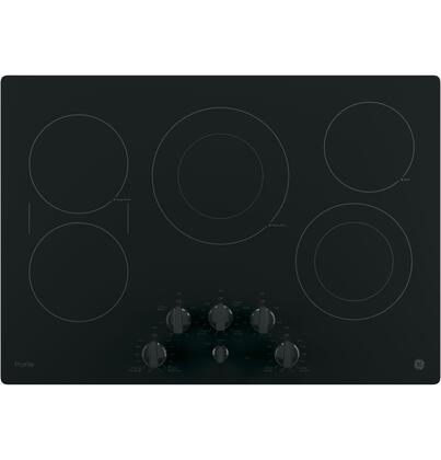 "GE Profile PP7030 30"" Built in Electric Cooktop with 5 Radiant Cooking Elements, Front Center Control Knobs, Hot Surface Indicator, Keep-Warm Setting and Melt Setting in"