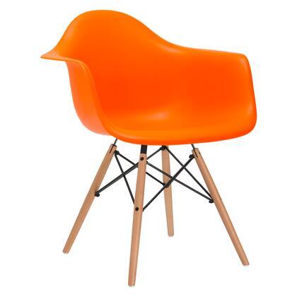 EdgeMod EM110NATORA Vortex Series Modern Wood Frame Dining Room Chair