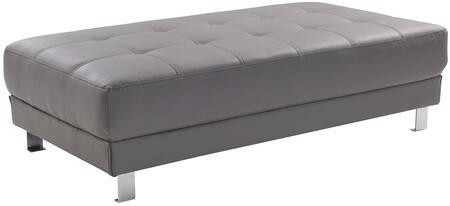 Glory Furniture G452O Milan Series Faux Leather Metal Frame Ottoman