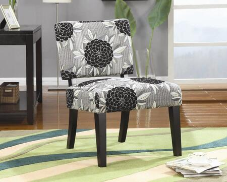 Coaster 902050 Armless Fabric Wood Frame Accent Chair