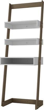 Accentuations 21AMC Accentuations by Manhattan Comfort Urbane Carpina Ladder Desk with 2 Floating Shelves and 1 - Tabletop and Cubby