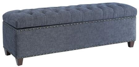 Donny Osmond Home 500457 Home Accents Series Accent Armless Wood Fabric Bench