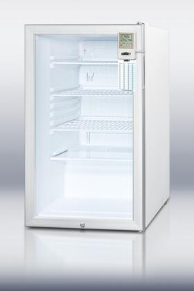 Summit SCR450LBI7MEDDTADA Medical Series Compact Refrigerator with 4.1 cu. ft. Capacity in Stainless Steel
