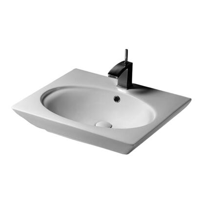 "Barclay 437H 23"" Opulence Above Counter Basin with Oval Bowl with in White"