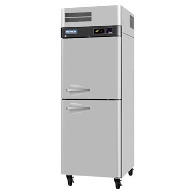 Turbo Air PRF Premiere Freezer with Solid Half Doors, Digital Temperature Control System, Hot Gas Condensate System, High-Density Polyurethane Insulation and Stainless Steel Cabinet Construction