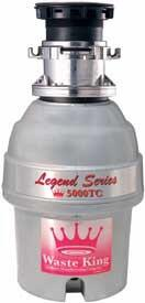 Waste King 5000TC Batch Feed 3/4 HP Food Disposer