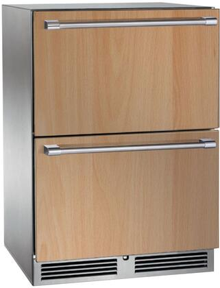"""Perlick HP24Fx3x 24"""" Drawer Freezer with Rapidcool Forced Air Refrigeration System, Stainless Steel Interior and Exterior, and 390 BTU Variable-Speed Compressor, in"""
