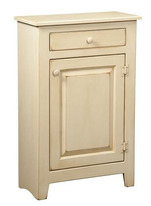 "Chelsea Home Furniture Hannah 465006 28"" Large Cabinet with 2 Drawers, 2 Doors, Simple Pulls and Premium Grade Pine Wood Construction in Buttermilk Burnt Umber Color"