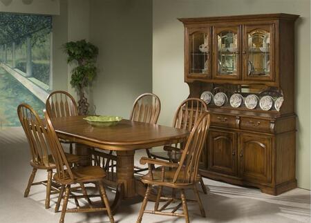 Intercon Furniture Classic Oak CO-TA-I4296 Dining Room Solid Oak Trestle Table