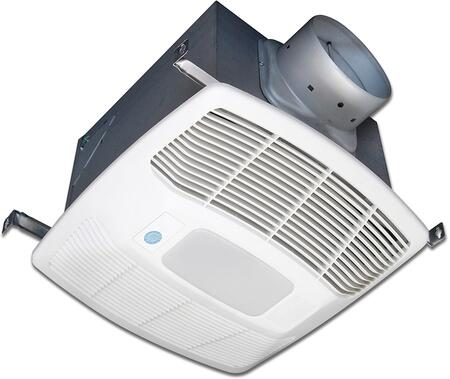 Air King EFxSG Exhaust Fan with x CFM, Motion Sensor, Lighting, 23 Gauge Galvanized Steel Housing, and Polymeric Grill, in White