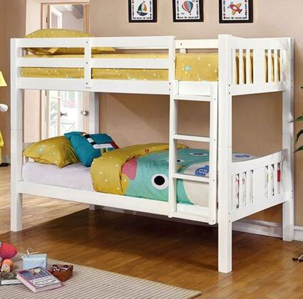 Furniture of America CMBK929WHBED Cameron Series  Twin Size Bunk Bed