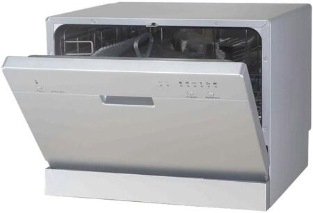 "Sunpentown SD2201S 22""  Countertop Full Console Dishwasher, in Silver"