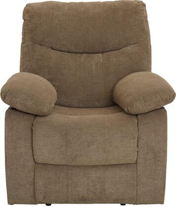 """Standard Furniture Dinero Collection 4219RECLINER 36"""" Recliner with Fabric Upholstery, Pillow Top Armrests, Padded Seat and Back Cushions in"""