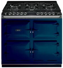 AGA A64NGSTBLU Six-Four Series Dual Fuel Freestanding Range with Sealed Burner Cooktop, 4.5 cu. ft. Primary Oven Capacity, in Royal Blue