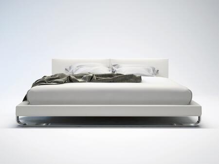 Modloft MD331CKWHT Chelsea Series  California King Size Platform Bed
