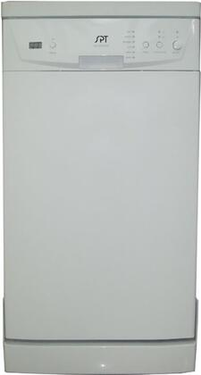 "Sunpentown SD9241W 18""  Portable Full Console Dishwasher, in White"