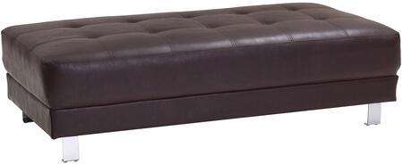 Glory Furniture G455O Milan Series Faux Leather Metal Frame Ottoman