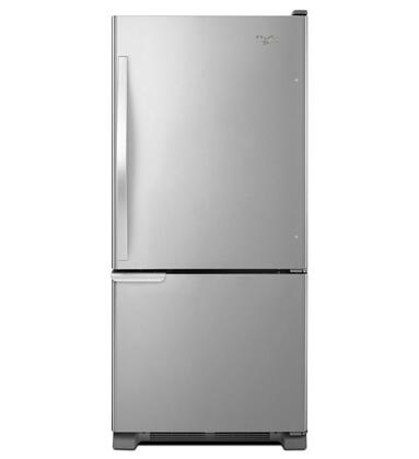 "Whirlpool WRB119WFBM 30""  Bottom Freezer Refrigerator with 18.7 cu.ft. Capacity in Stainless Steel"