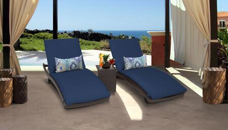 TK Classics BELLE CURVED CHAISE 2x ST NAVY