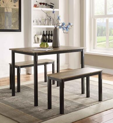4D Concepts 159356 boltzero dining table with 2 benches