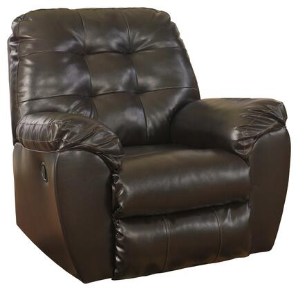 Milo Italia MI-2192DTMP Patricia DuraBlend Rocker Recliner with Button Tufted Cushions, Pillow Padded Arms and Metal Drop-In Unitized Seat Box in