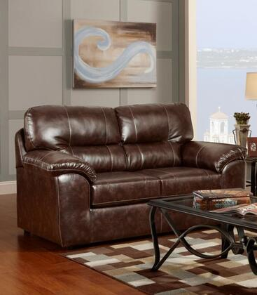 Chelsea Home Furniture 194902CC Dorchester Series Fabric Stationary with Wood Frame Loveseat