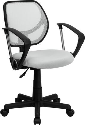 "Flash Furniture WA3074WHTAGG 21.5"" Contemporary Office Chair"