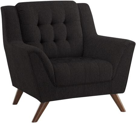 Coaster 511036 Baby Natalia Series Fabric Armchair with Wood Frame in Black