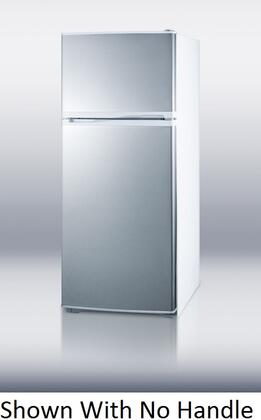 Summit FF1620WHSSCH Freestanding Top Freezer Refrigerator with 15.8 cu. ft. Total Capacity 2 Glass Shelves