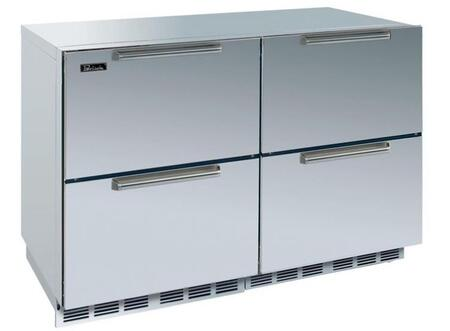 Perlick HP48FRS66DNU Signature Series Counter Depth Side by Side Refrigerator with 12.3 cu. ft. Capacity