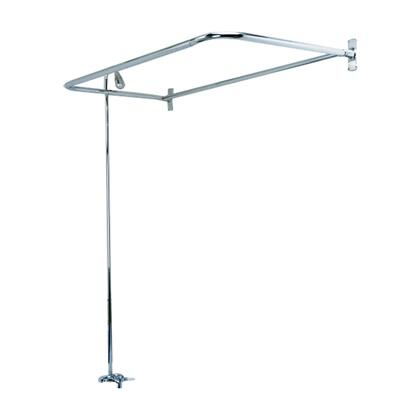 "Barclay 4193 ""D"" Shaped Rod Converto Shower Unit with Plastic Shower Head and Metal Lever Handles in"