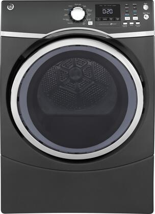 "GE GFD45ESPK 27"" 7.5 cu. ft. Capacity Front Load Electric Dryer with Steam, Sensor Dry, Sanitize Cycle and Damp Alert"